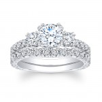 14K White Gold Charisma Engagement Ring Set