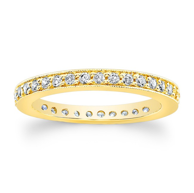 14kt Yellow Gold Eternity Band Honor