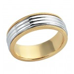 Gentlemen's White & Yellow Gold Wedding Band