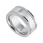 Gentlemen's Two Row Diamond Wedding Band