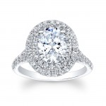 14K White Gold Olivia Halo Diamond Engagement Ring