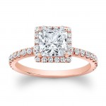 14K Rose Gold Paloma Halo Diamond Engagement Ring