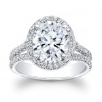 14K White Gold Olympia Halo Diamond Engagement Ring