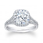 14K White Gold Collette Halo Engagement Ring