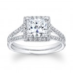 14K White Gold Valentina Halo Engagement Ring