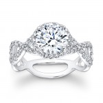 14K White Gold Emme Halo Engagement Ring