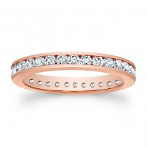 14kt Rose Gold Eternity Band Justice