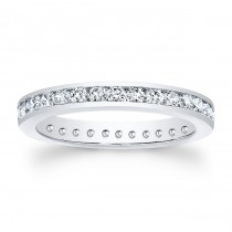 14kt  White Gold Eternity Band Justice