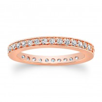 14kt Rose Gold Eternity Band Honor Rose