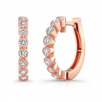 Rose Gold Vintage Hoops