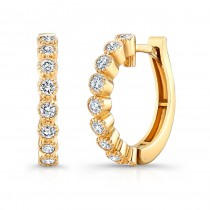 Yellow Gold Vintage Hoops