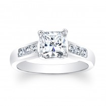 Princess Cut Channel Engagement Ring
