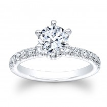 14K White Gold Remme Round Diamond Engagement Ring