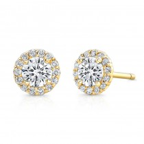 14 Kt. Yellow Gold Sierra Halo Studs