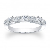 14kt White Gold Band Mae
