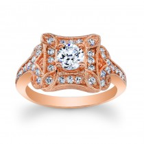 14kt Rose Gold Vintage Style Ring