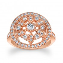 14kt Rose Gold Vintage Style Ring Maribelle