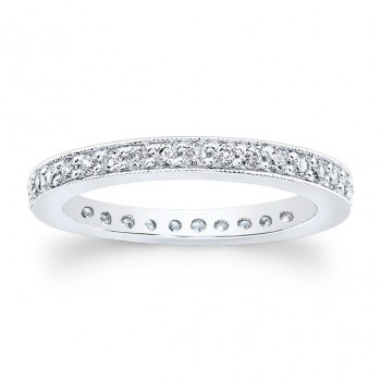 14kt White Gold Eternity Band Honor