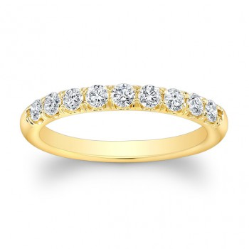 14k Diamond Band Yellow Gold
