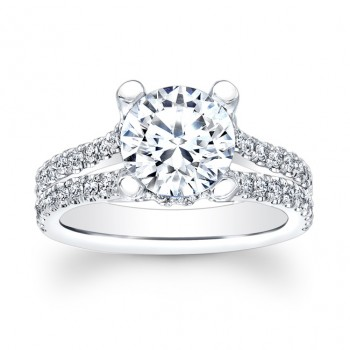 14K White Gold Megan May Diamond Engagement Ring