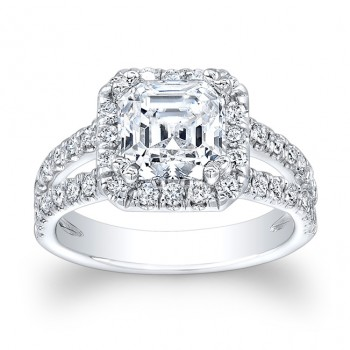 14 Kt. White Gold Abbey Ring