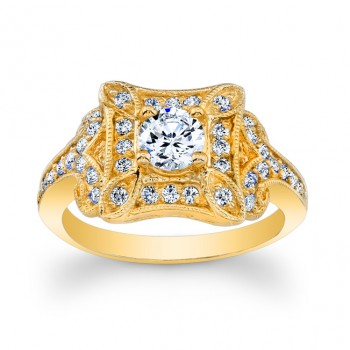14kt Yellow Gold Vintage Style Ring Vera