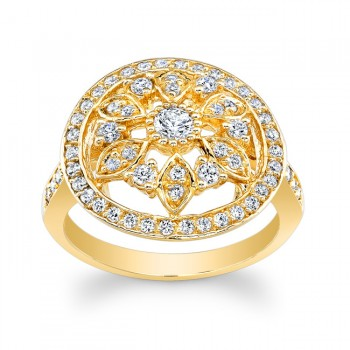 14kt Yellow Vintage Style Ring Maribelle