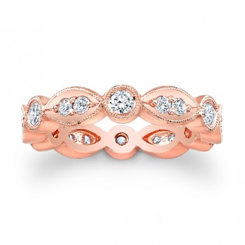 14kt Rose Gold Eternity Band Paisley